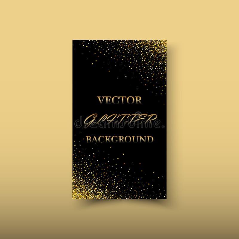 Элемент дизайна волны золота цвета конспекта вектора сияющий с влиянием яркого блеска на темной предпосылке бесплатная иллюстрация