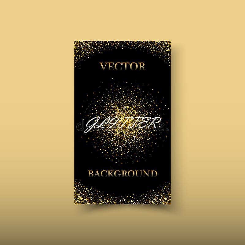 Элемент дизайна волны золота цвета конспекта вектора сияющий с влиянием яркого блеска на темной предпосылке иллюстрация вектора