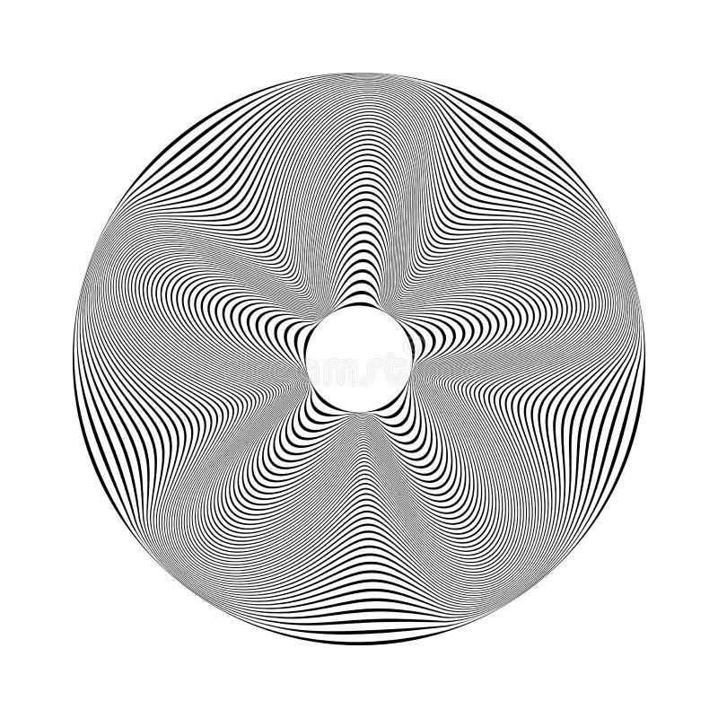 Элемент дизайна круга линии текстура иллюстрация штока