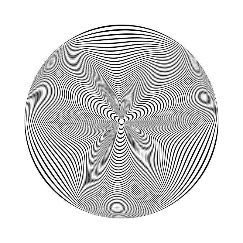 Элемент дизайна круга линии текстура иллюстрация вектора