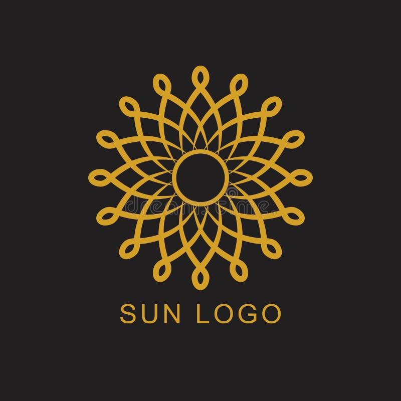Элемент дизайна логотипа значка логотипа Солнця бесплатная иллюстрация