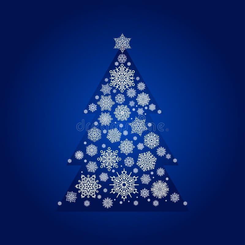 Элемент замерли карточкой, который льда ели снега зимы природы сезона снежинки xmas и рождество замораживают вектор предпосылки бесплатная иллюстрация