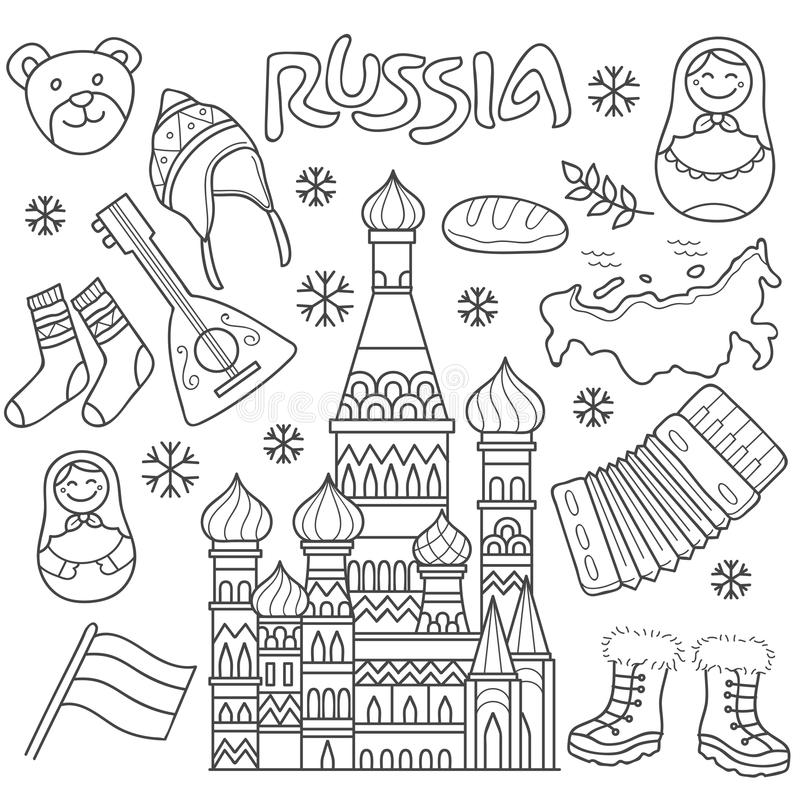 Элемент значка России иллюстрация вектора