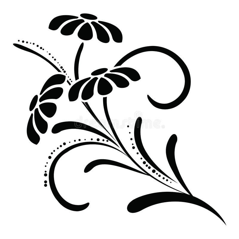 элемент конструкции флористический иллюстрация вектора