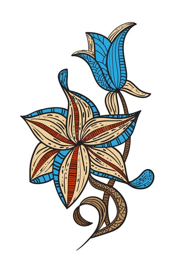 Download элемент конструкции флористический Иллюстрация вектора - иллюстрации насчитывающей картина, сторонника: 18392773