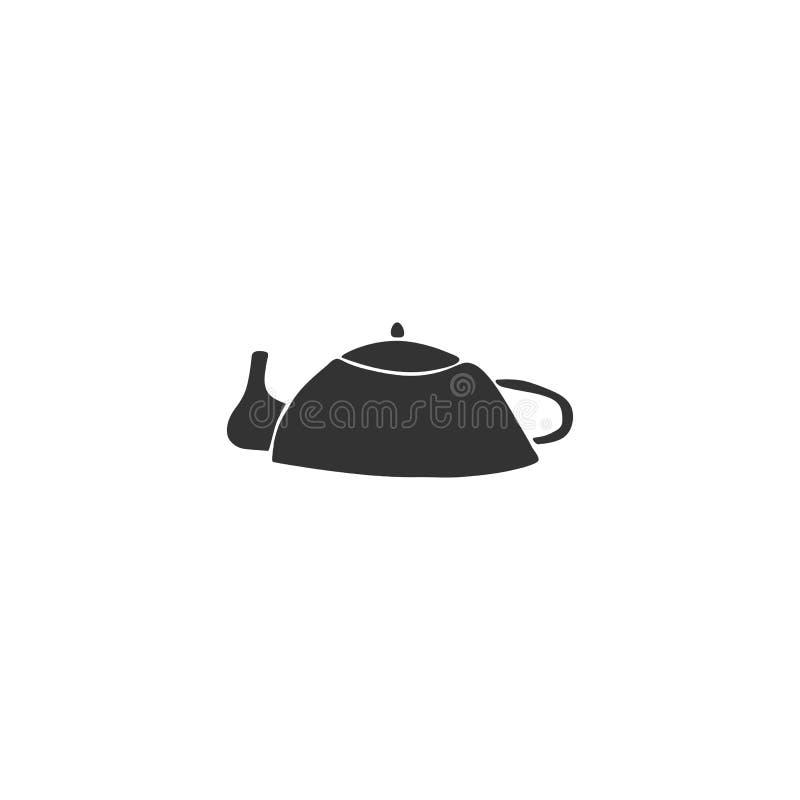 Элемент логотипа кухни, чайник Объект вектора нарисованный рукой иллюстрация вектора