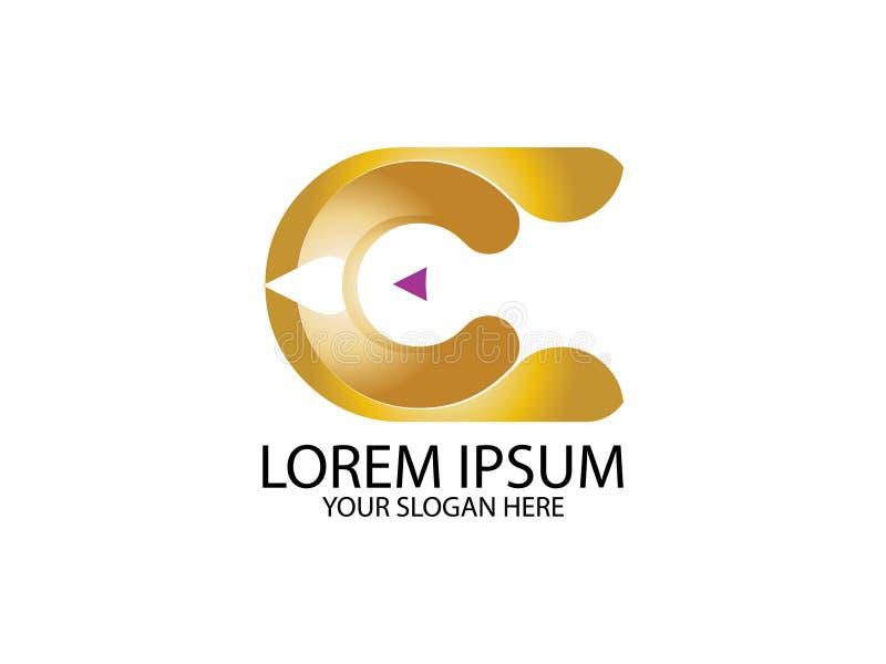 Элемент письма графика логотипа дизайна кнопки игры c начального письма клеймя бесплатная иллюстрация