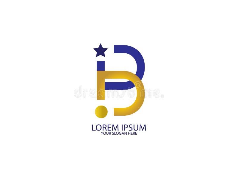 Элемент письма графика логотипа дизайна b начального письма клеймя иллюстрация вектора