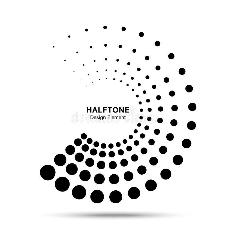 Элемент поставленный точки полутоновым изображением круга рамки конспекта точек логотипа эмблемы дизайна для медицинского, обрабо бесплатная иллюстрация