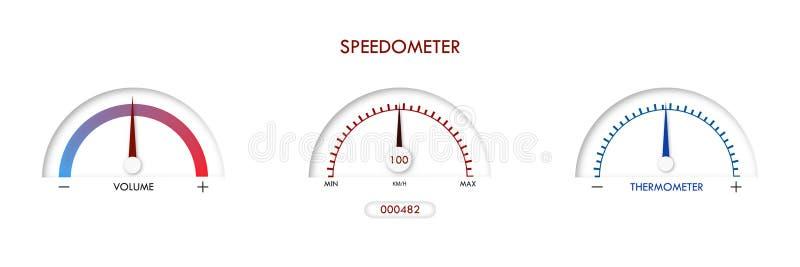 Элемент технологии времени дела установленного дизайна иллюстрации вектора шкалы большой иллюстрация вектора