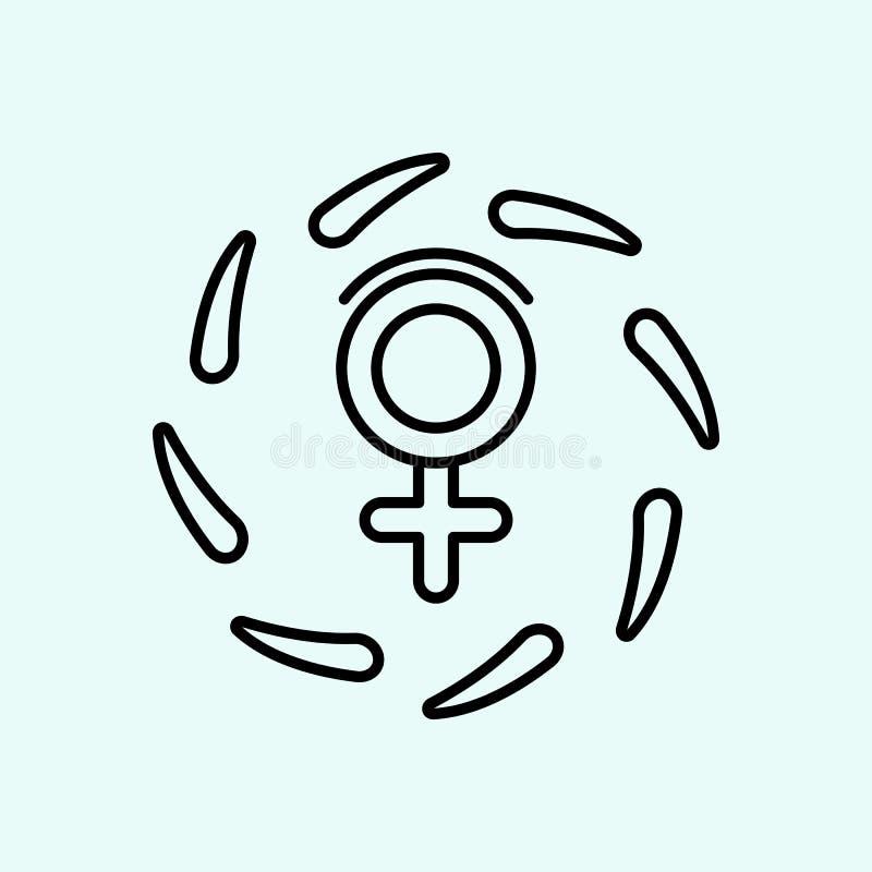 организация, Венера, значок протеста Элемент феминизма для мобильных концепции и значка приложений сети План, тонкая линия значок иллюстрация вектора