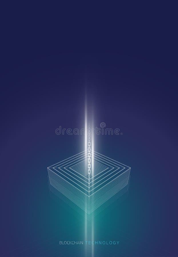 Элемент цепи прямоугольника иллюстрация вектора