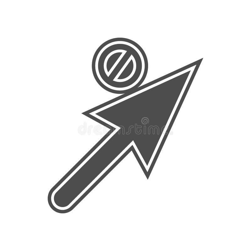 отправляющ и получающ значок писем Элемент minimalistic для мобильных концепции и значка приложений сети Глиф, плоский значок для иллюстрация штока