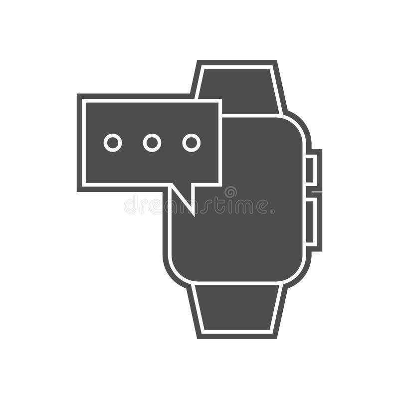 время на умном значке дозоров Элемент minimalistic для мобильных концепции и значка приложений сети Глиф, плоский значок для диза бесплатная иллюстрация