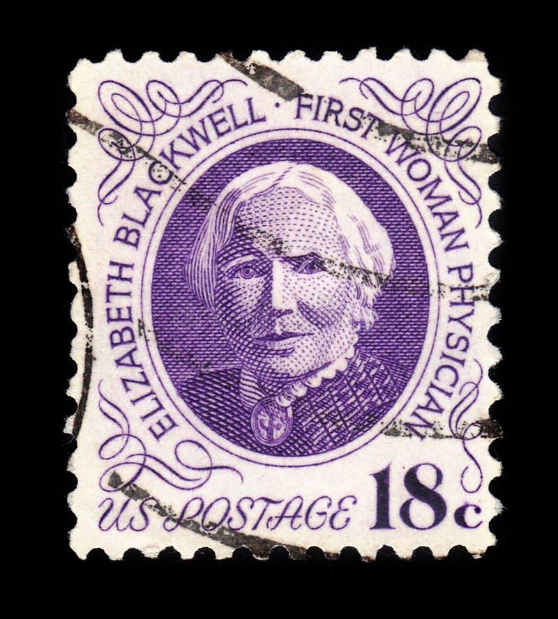 Элизабет Blackwell, первая женщина для того чтобы получить медицинскую степень в США стоковое изображение rf