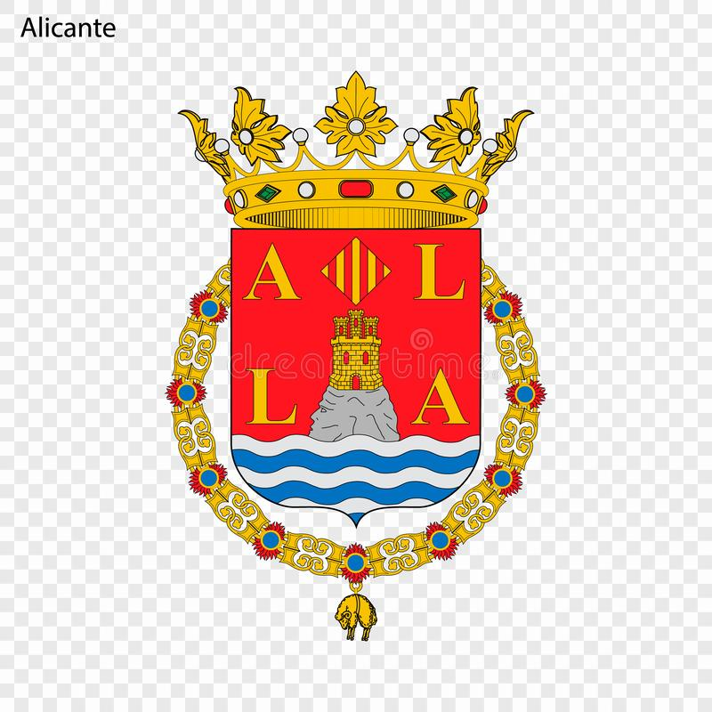 Эмблема Аликанте Город Испании иллюстрация вектора
