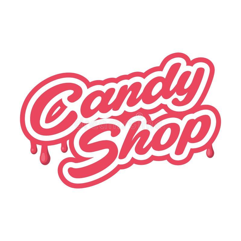 Эмблема вектора магазина конфеты - изолированная иллюстрация вектора ярлыка Шаблон логотипа Эмблема вектора для кафа, помадок стоковые фото
