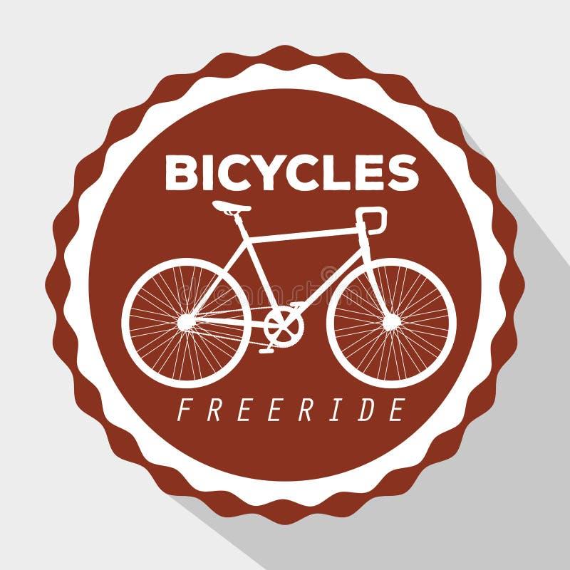 Эмблема весьма транспортного средства велосипеда, который нужно резвиться бесплатная иллюстрация