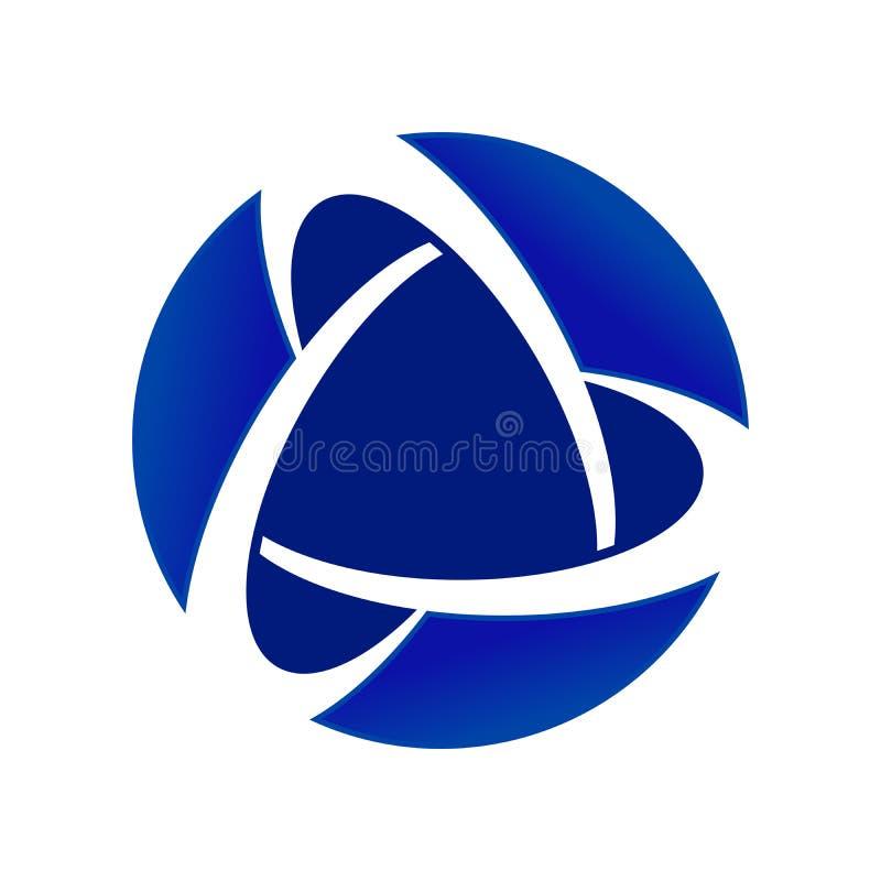 Эмблема дизайна логотипа символа голубого союзничества ядра глобального круговая бесплатная иллюстрация