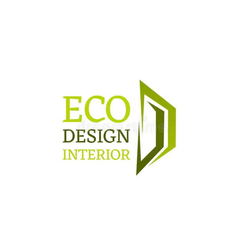 Эмблема дизайна Eco внутренняя бесплатная иллюстрация