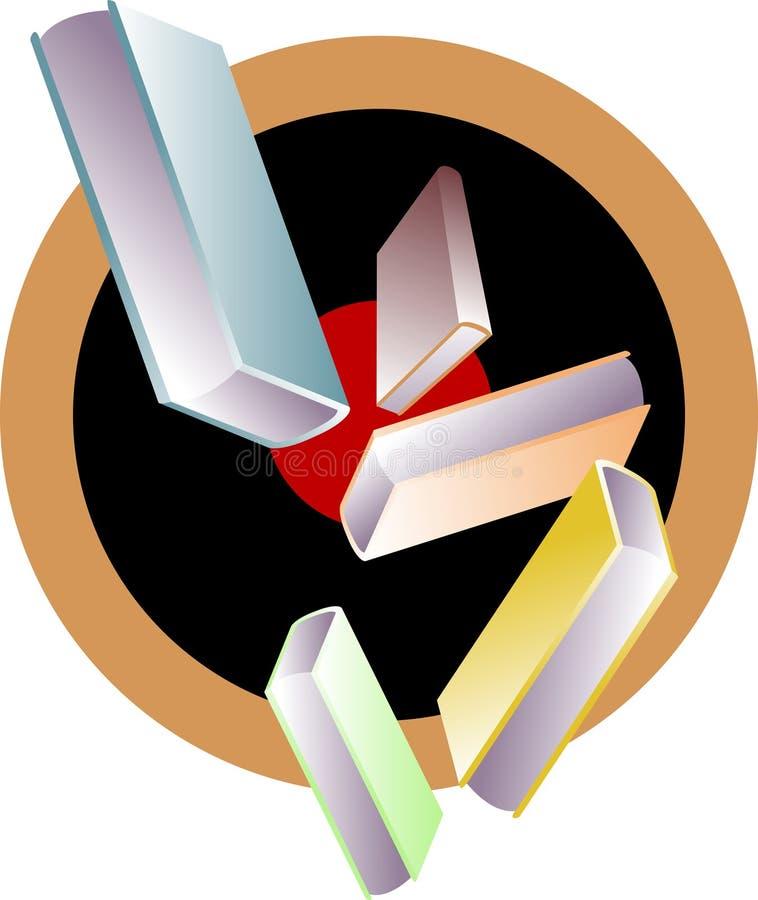 эмблема книг иллюстрация вектора