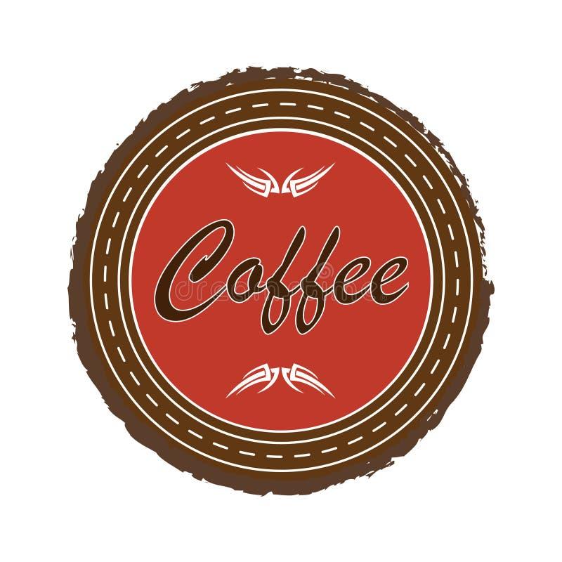 Эмблема кофе Изолированная иллюстрация eps 10 вектора стоковые изображения rf