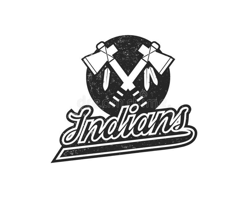 Эмблема логотипа американского футбола Значок спорт США в стиле силуэта Monochrome дизайн логотипа с томагавком и иллюстрация штока