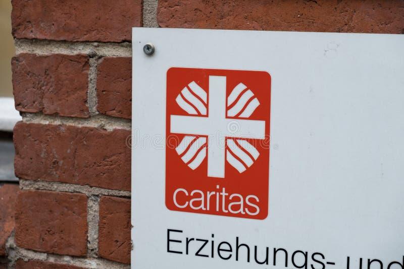 Эмблема немецкой ассоциации Caritas стоковые изображения