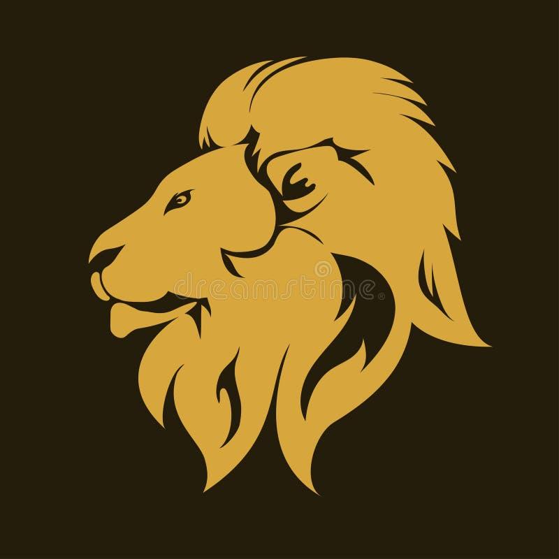Эмблема портрета льва животная вектор иллюстрация штока