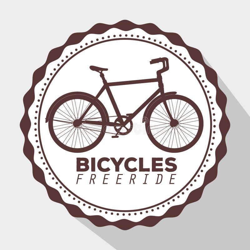 Эмблема транспортного средства образа жизни велосипеда, который нужно ехать бесплатная иллюстрация