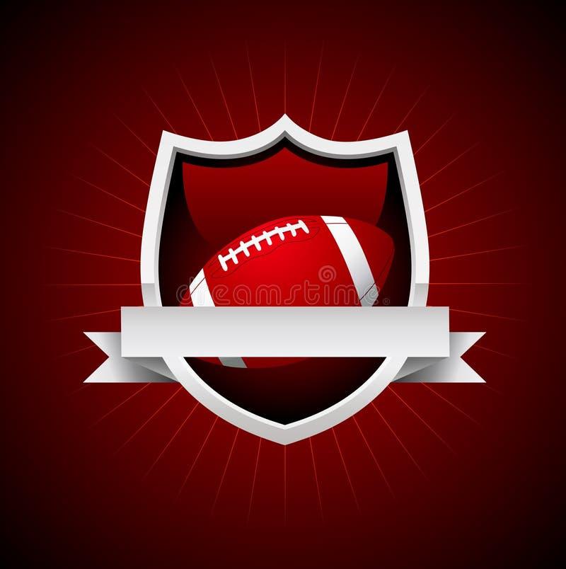 Эмблема футбола вектора иллюстрация вектора