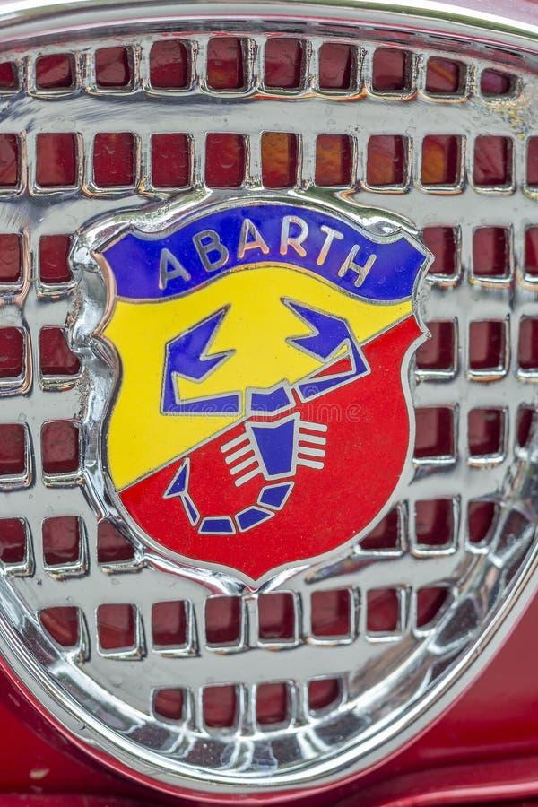 Эмблема Abarth, автопроизводитель дороги стоковые изображения rf