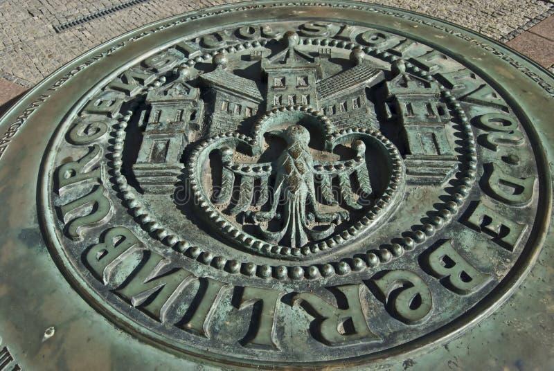 эмблема berlin стоковое фото