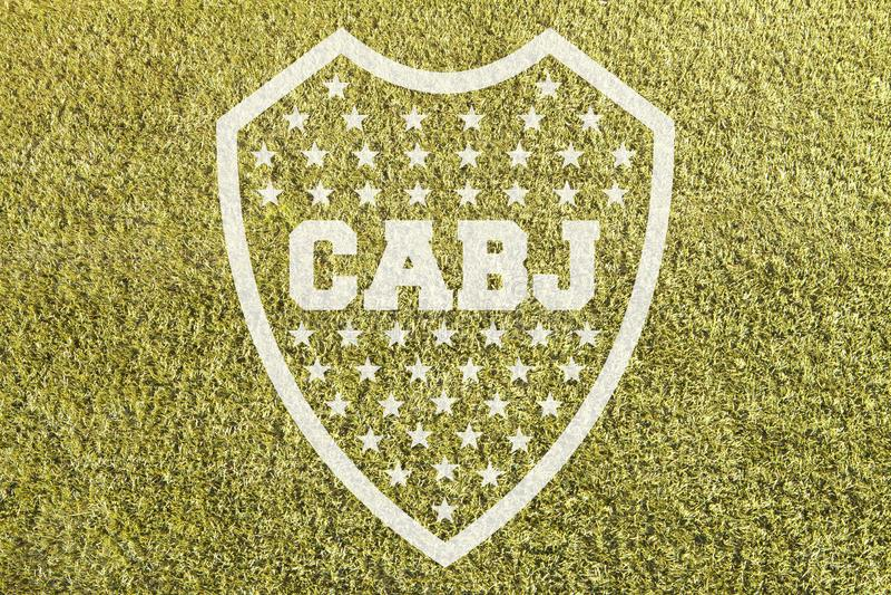 Эмблема Boca младшая на траве стоковое изображение