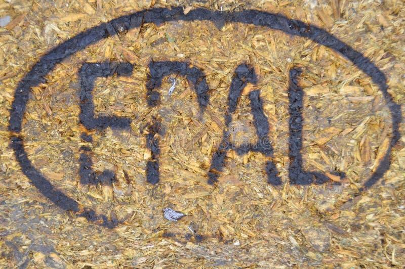 Эмблема Europallet сделанная путем гореть на древесине стоковое фото