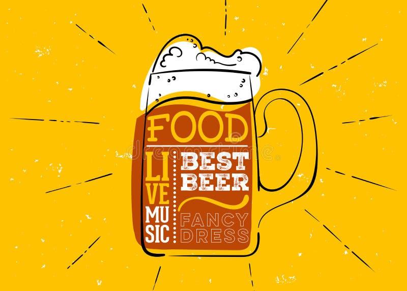 Эмблема Oktoberfest нарисованная рукой бесплатная иллюстрация