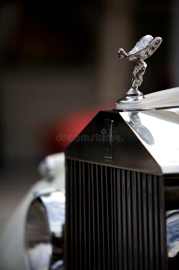 эмблема Rolls Royce автомобиля стоковое изображение rf