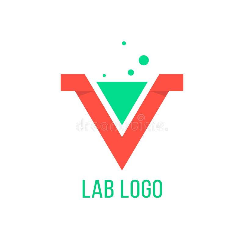 Эмблема лаборатории любит красное письмо v бесплатная иллюстрация