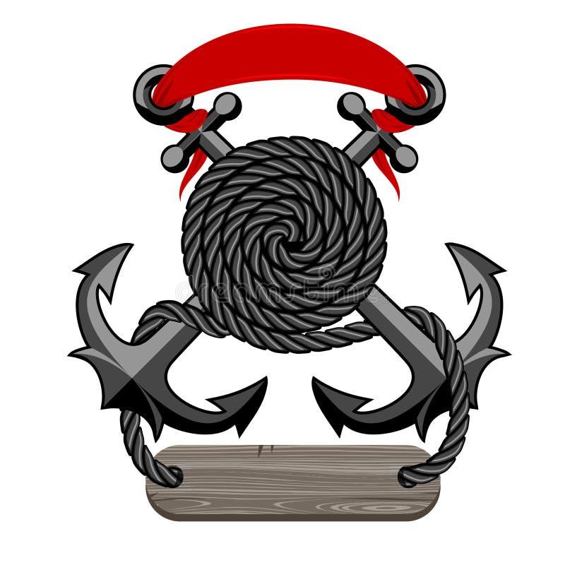 Эмблема анкеров иллюстрация штока