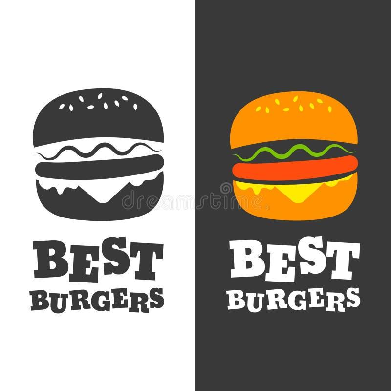 Эмблема вектора бургера бесплатная иллюстрация