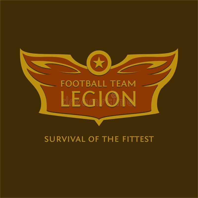Эмблема вектора для футбольной команды heraldic логос иллюстрация штока