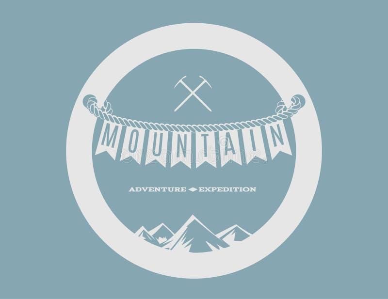 Эмблема горы иллюстрация вектора