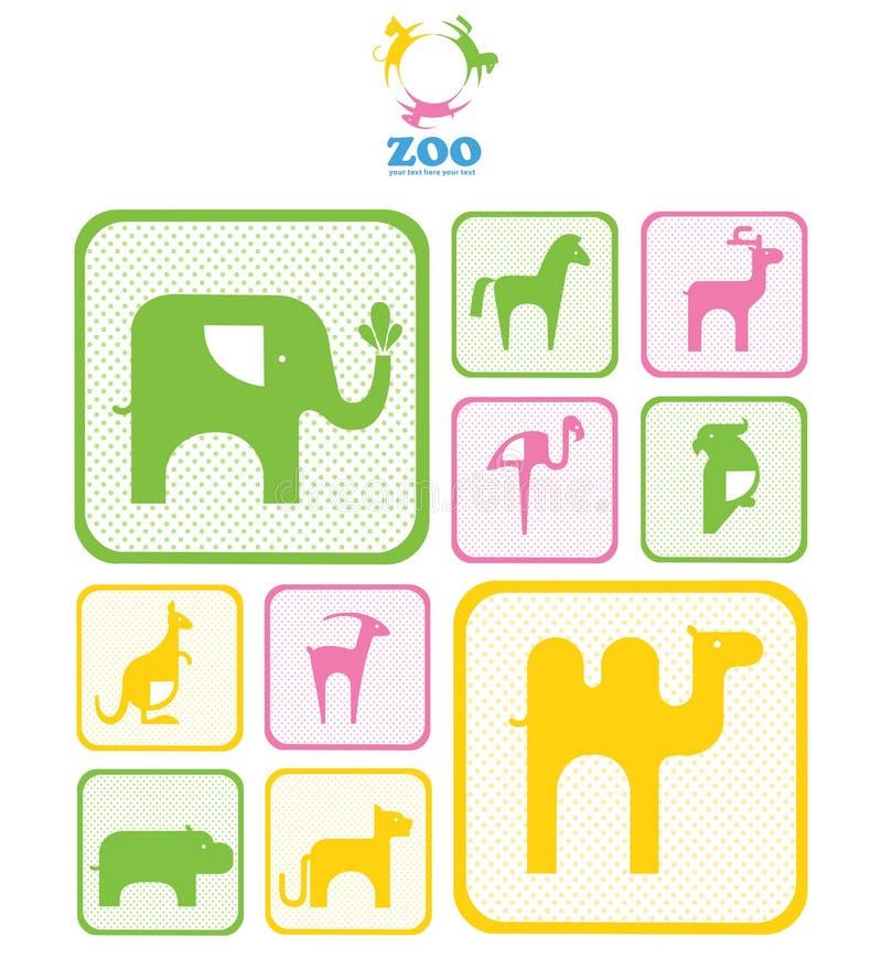 Логос зверинца. логосы и иконы с животными. иллюстрация штока