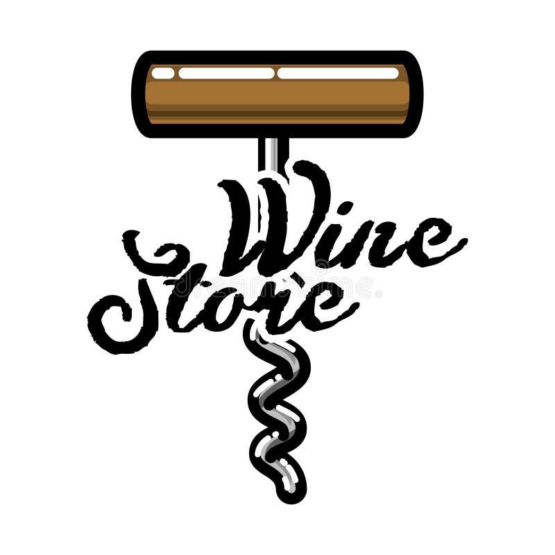 Эмблема магазина вина цвета винтажная бесплатная иллюстрация
