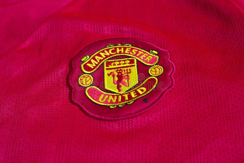 Эмблема Манчестера Юнайтеда стоковое фото rf