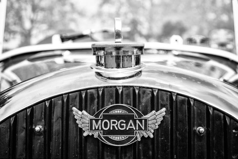 Эмблема Морган автомобиля, 3-Уилеры F-серий стоковые фото