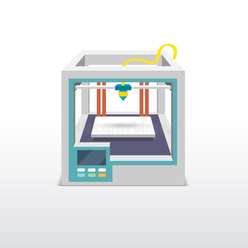 Эмблема печатания 3d бесплатная иллюстрация
