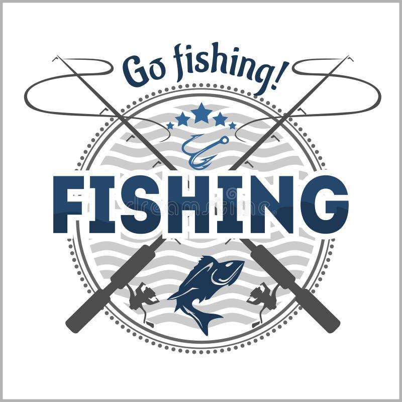 Эмблема рыбной ловли, значок и элементы дизайна бесплатная иллюстрация