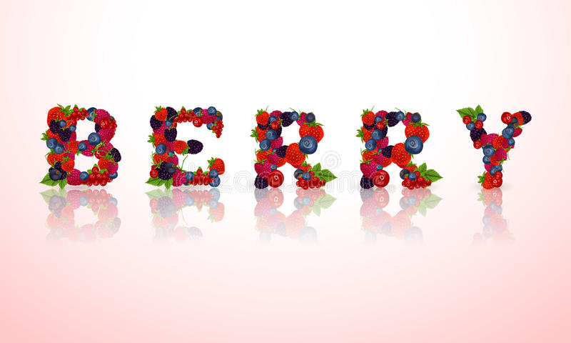 Download Эмблема слова ягоды иллюстрация вектора. иллюстрации насчитывающей черный - 40586164