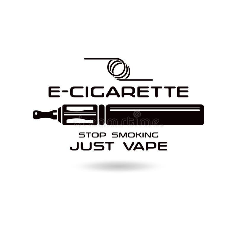 эмблема E-сигареты иллюстрация штока